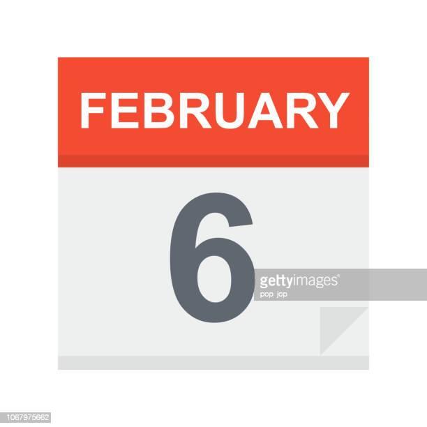 6 Februar - Kalender-Symbol