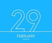 29 February outline background. Eps10. Vector illustration