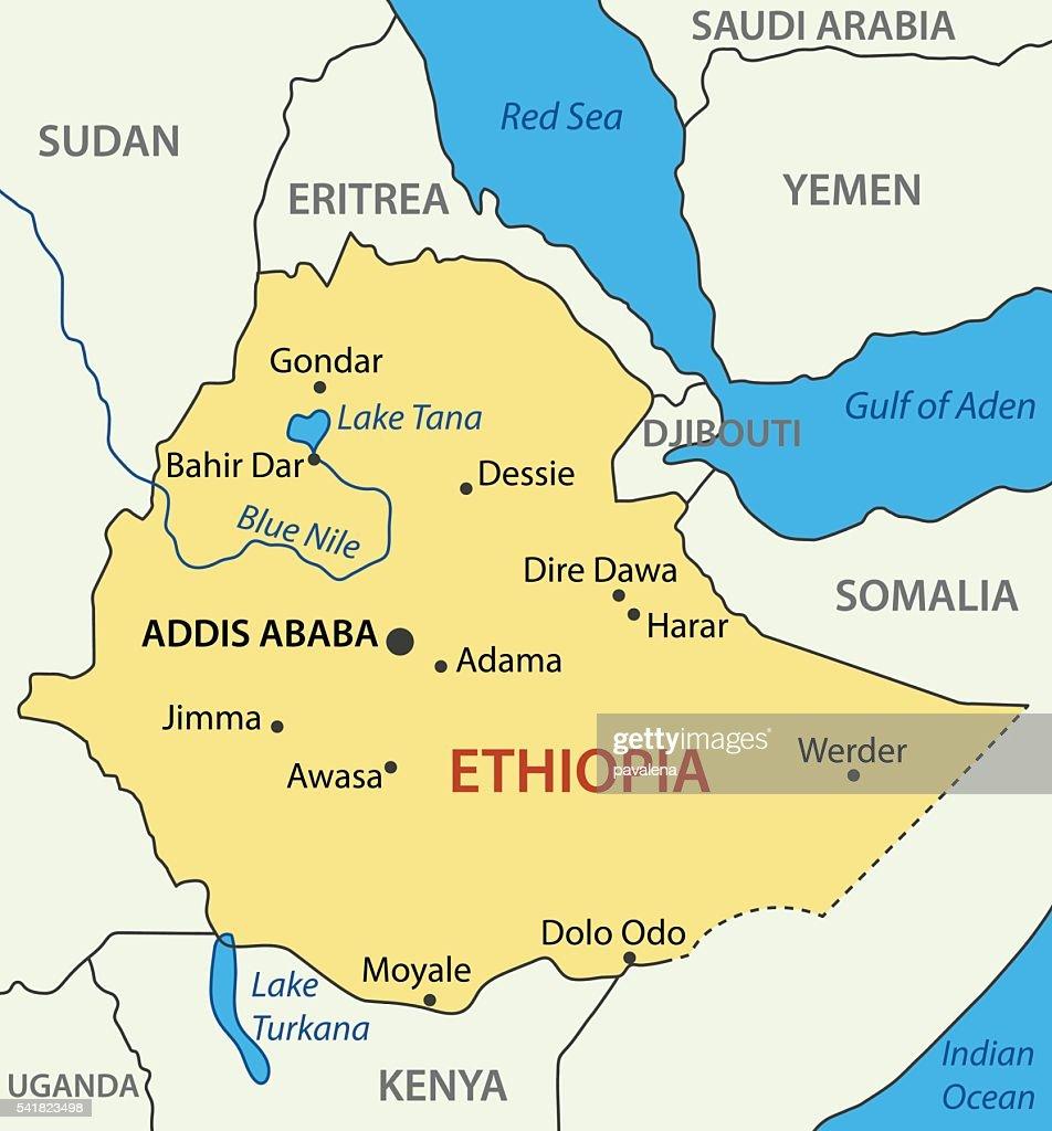 Federal Democratic Republic of Ethiopia - vector map