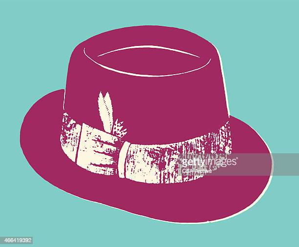 Fedora with Band and Feather