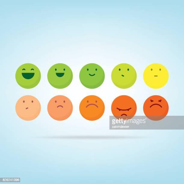 feedback-emoticons - punkten stock-grafiken, -clipart, -cartoons und -symbole