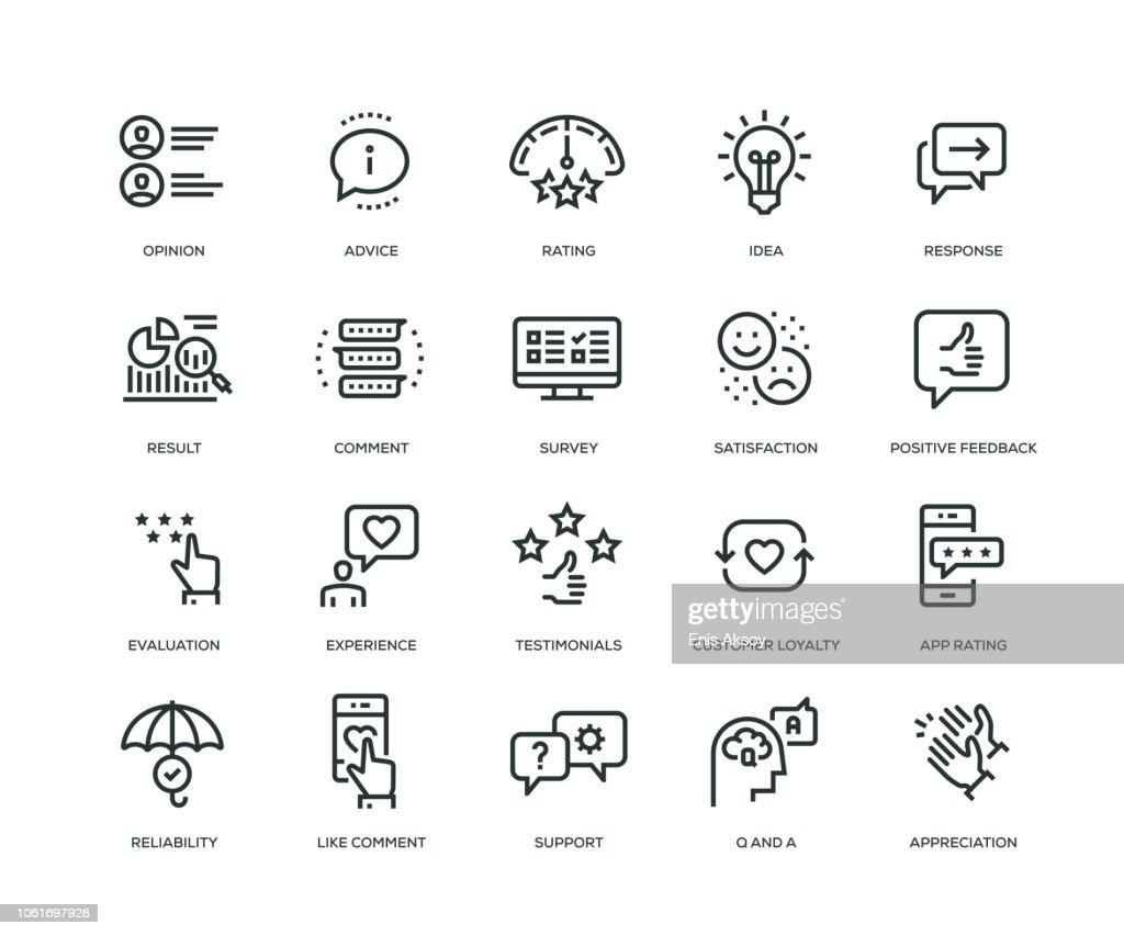Rückmeldungssymbole - Line-Serie : Stock-Illustration