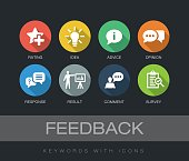 Feedback keywords with icons