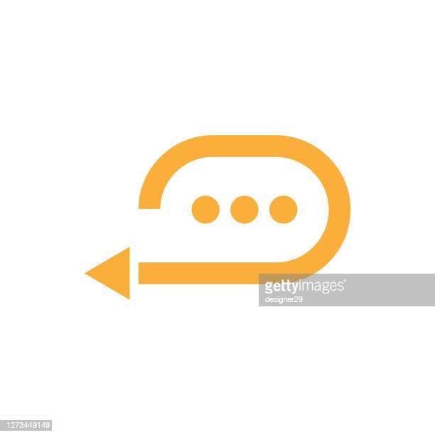 stockillustraties, clipart, cartoons en iconen met pictogram vector-vectorpictogram voor feedbackspeech. - feedback