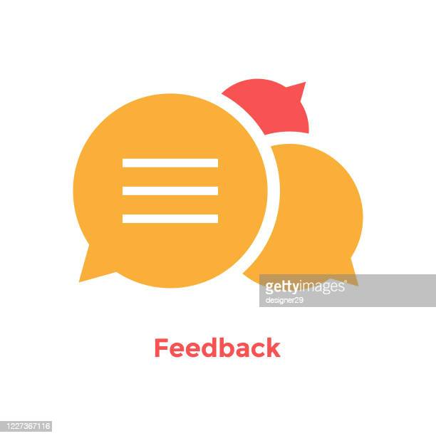 ilustrações de stock, clip art, desenhos animados e ícones de feedback speech bubble icon. - debate