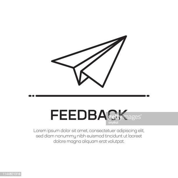 フィードバックベクトル線アイコン-シンプルな細線アイコン、プレミアム品質のデザイン要素 - テスティモニアル点のイラスト素材/クリップアート素材/マンガ素材/アイコン素材
