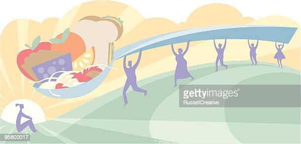 ilustraciones, imágenes clip art, dibujos animados e iconos de stock de alguien de alimentación - bulimia