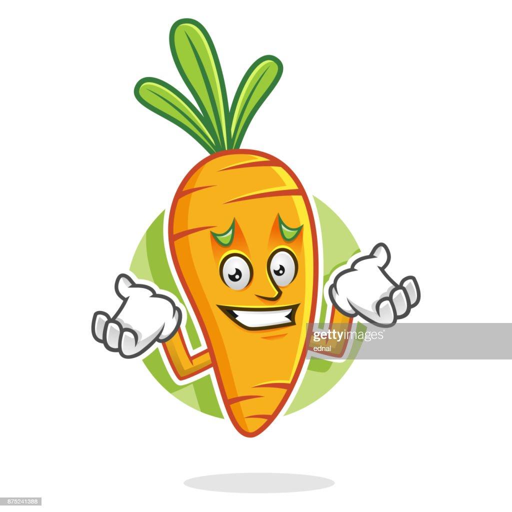 Feeling sorry Carrot mascot, Carrot character, Carrot cartoon