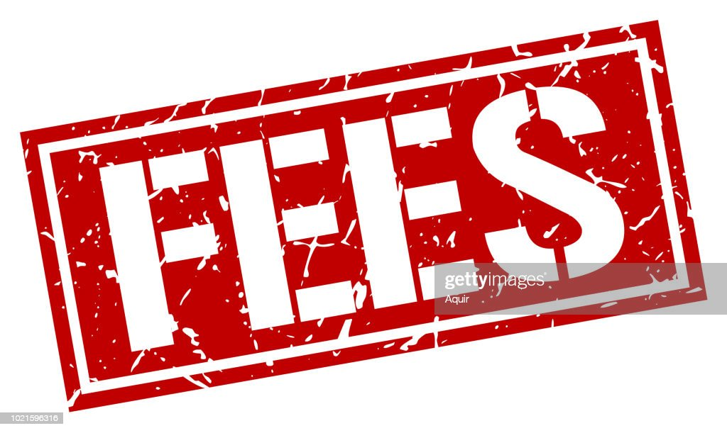 fees square grunge stamp