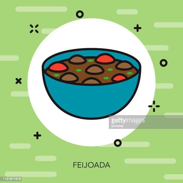 ilustrações, clipart, desenhos animados e ícones de ícone de feijoada brasil - feijão