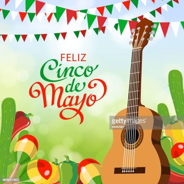 ilustrações de stock, clip art, desenhos animados e ícones de feliz cinco de mayo invitation - mariachi