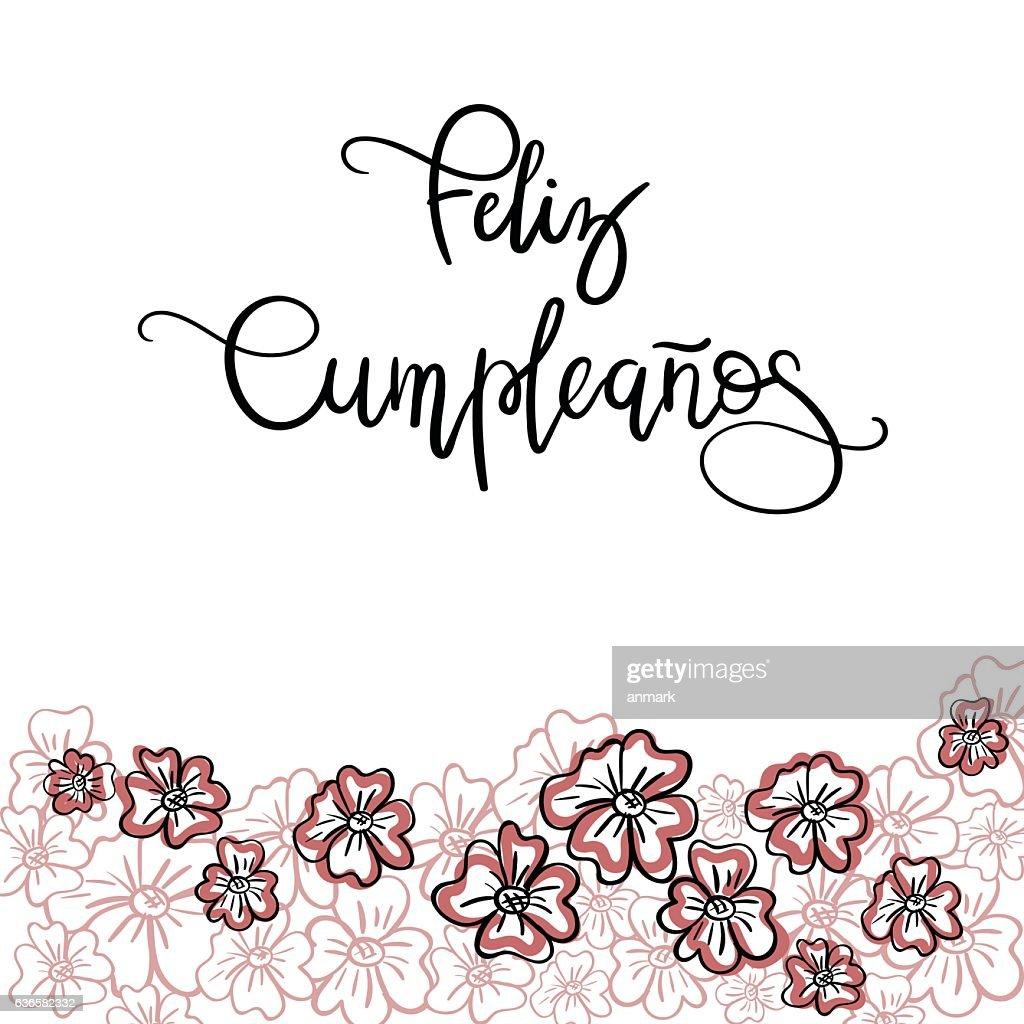 Feliz Cumpleanos Happy Birthday Spanish Text Vector Art Getty Images