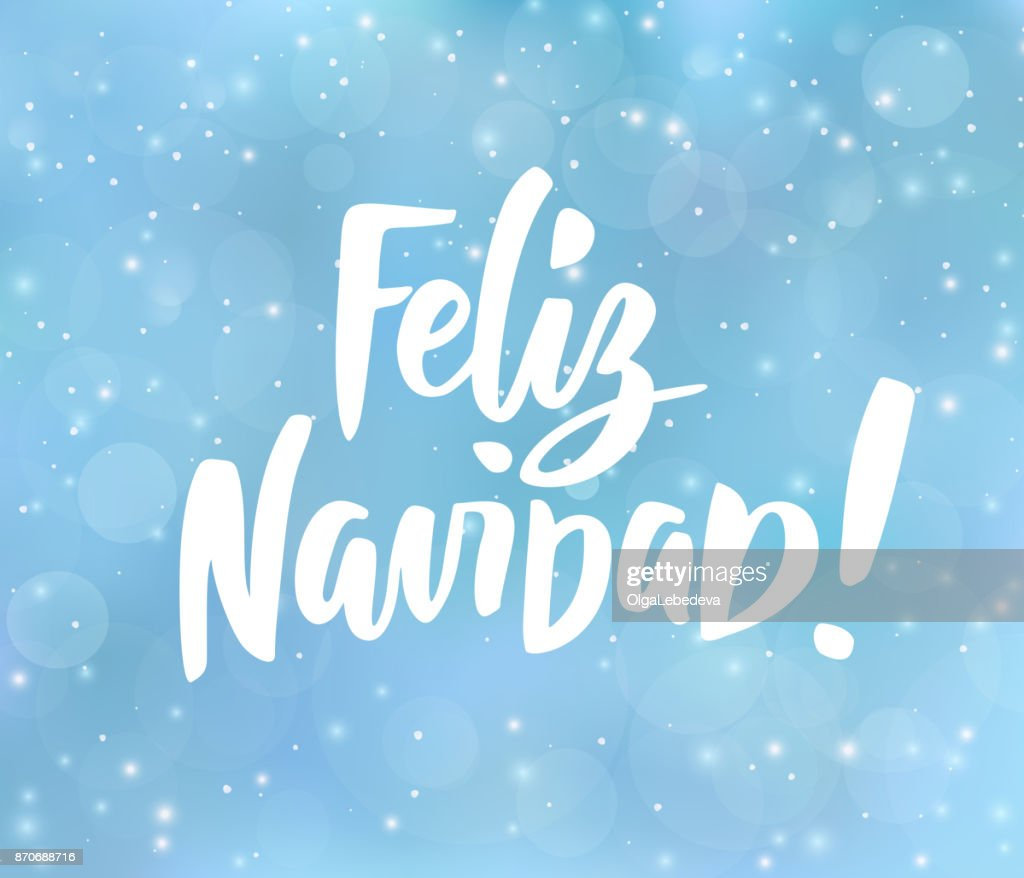 Feliz Navidad Spanish Merry Christmas Text Holiday Greetings Quote