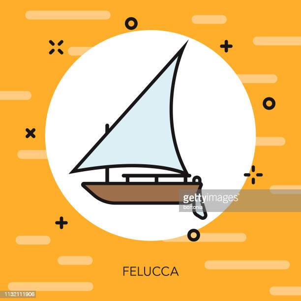 felucca egypt icon - nile river stock illustrations, clip art, cartoons, & icons