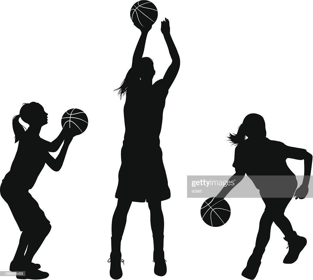 Female Basketball Players : Stock Illustration