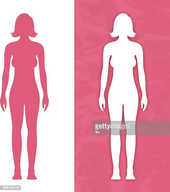 Weibliche Körper in Form
