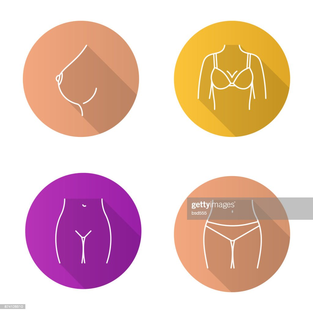 Female Body Parts Icons Vector Art Getty Images