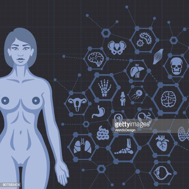 Female Body with Medical Design