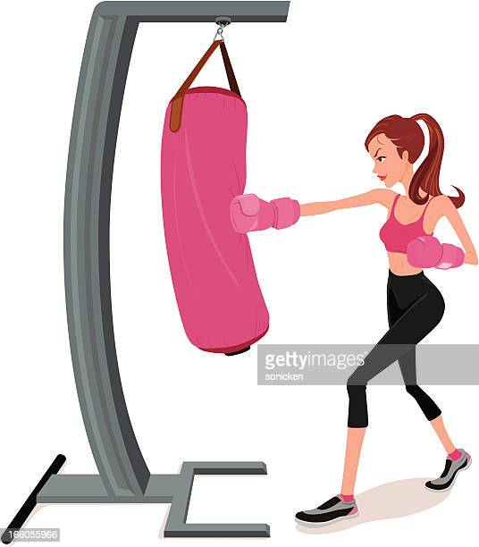 Female boxing workout