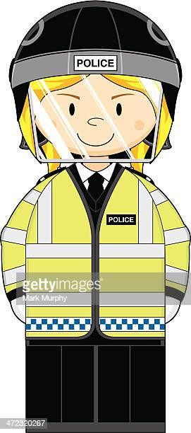 female british riot police officer - helmet visor stock illustrations, clip art, cartoons, & icons