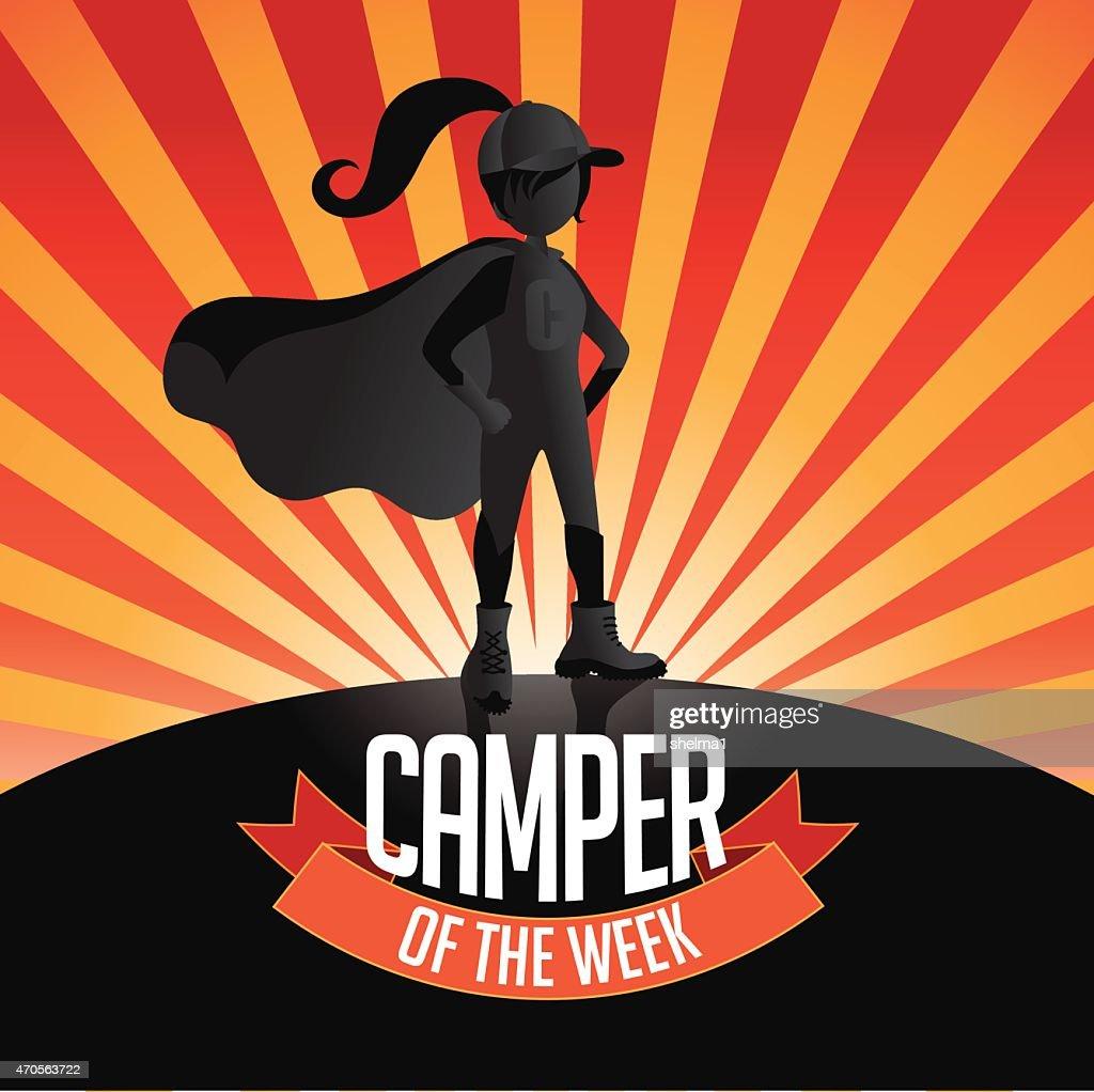 Female Camper of the week burst EPS 10 vector