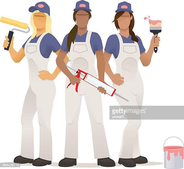 Female decorating team