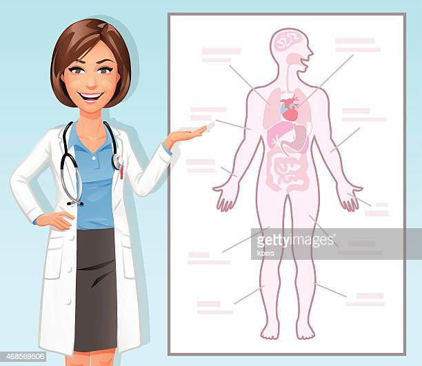 Female Doctor Explaining The Human Body