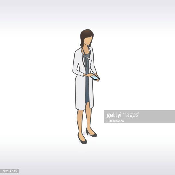 female doctor illustration - mathisworks stock illustrations