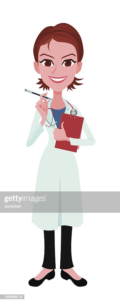 female doctor with report