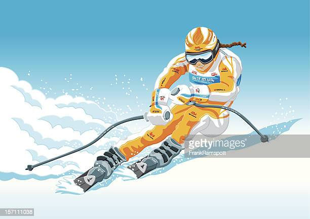 Female Downhill Skier