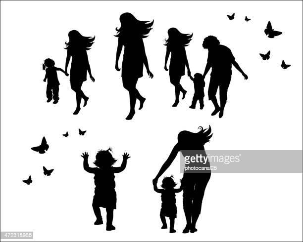Weibliche Familie Konzept Vektoren