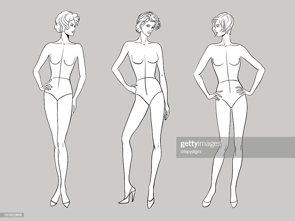 Female Fashion Figurines