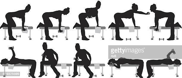 Female fitness silhouette