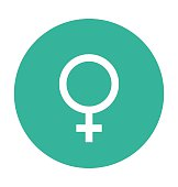 Female Gender Colored Vector Icon