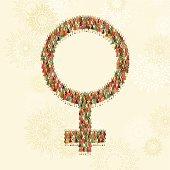Female gender symbol of women