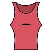 Female gym shirt wear icon