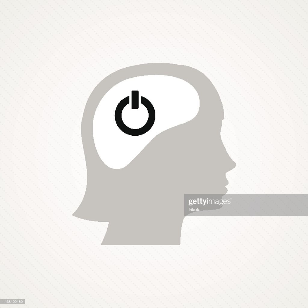 Female head and on/off icon