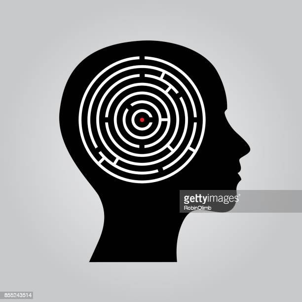 Female Head Profile Maze