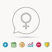 Female icon. Women sex sign.