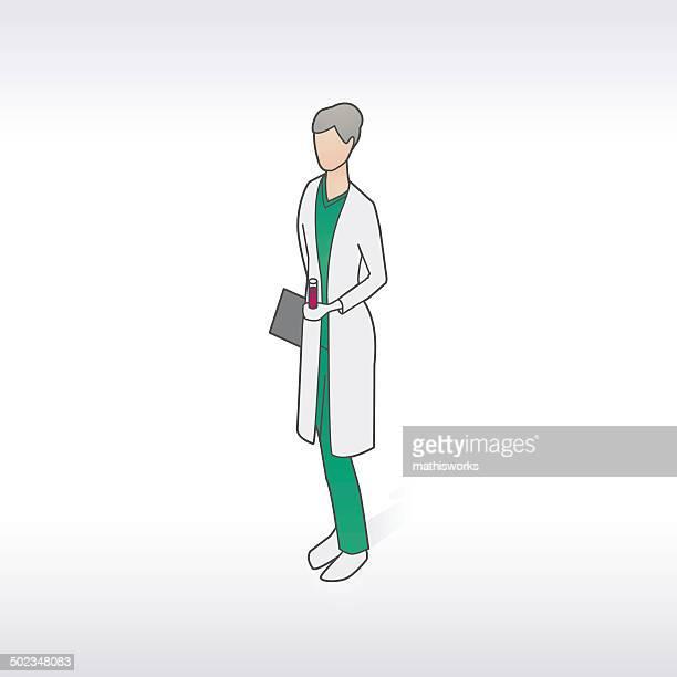ilustrações de stock, clip art, desenhos animados e ícones de técnico de laboratório feminino ilustração - mathisworks
