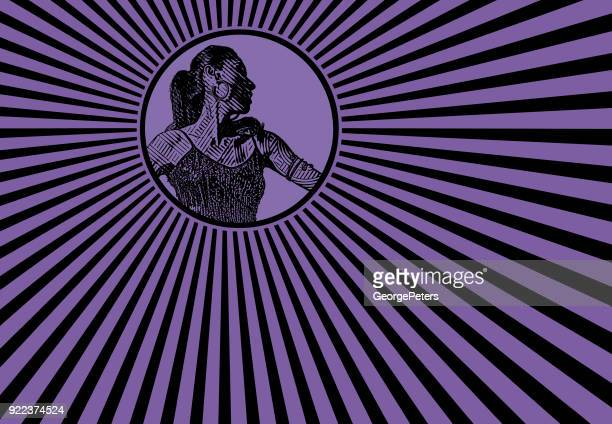 Female Latin Dancer with retro style pop art background