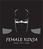 Female ninja, special force, masked woman.