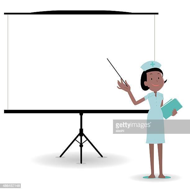 illustrations, cliparts, dessins animés et icônes de infirmière donnant une présentation dans un cadre de conférence/réunion - chirurgie esthetique