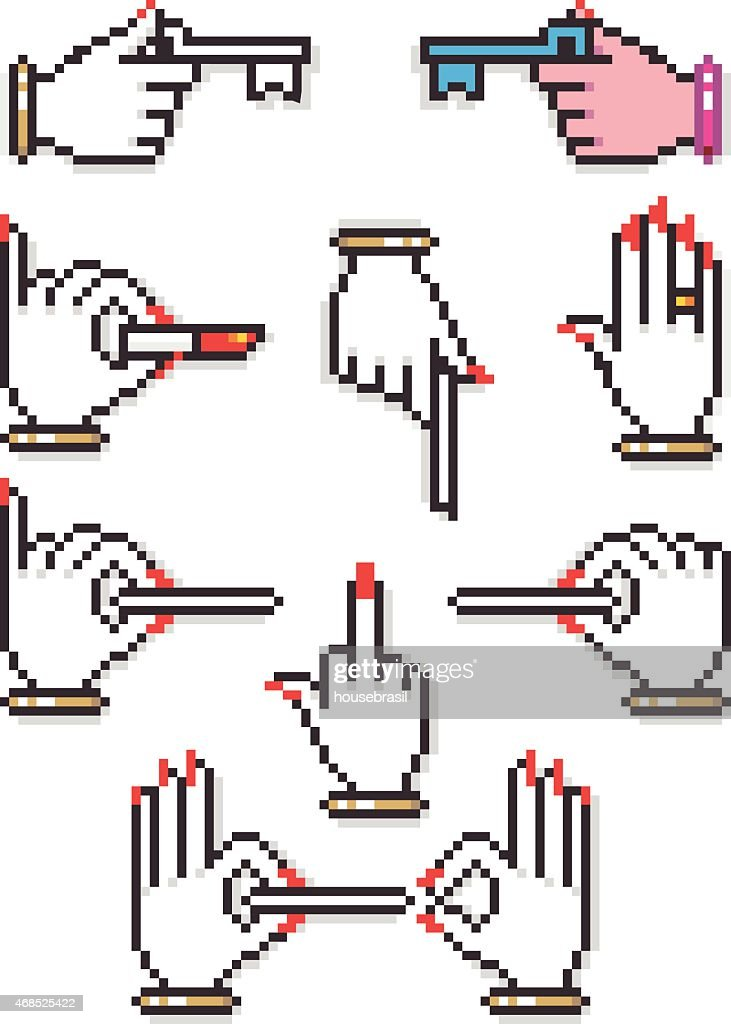 Female Pixel Hands Collection