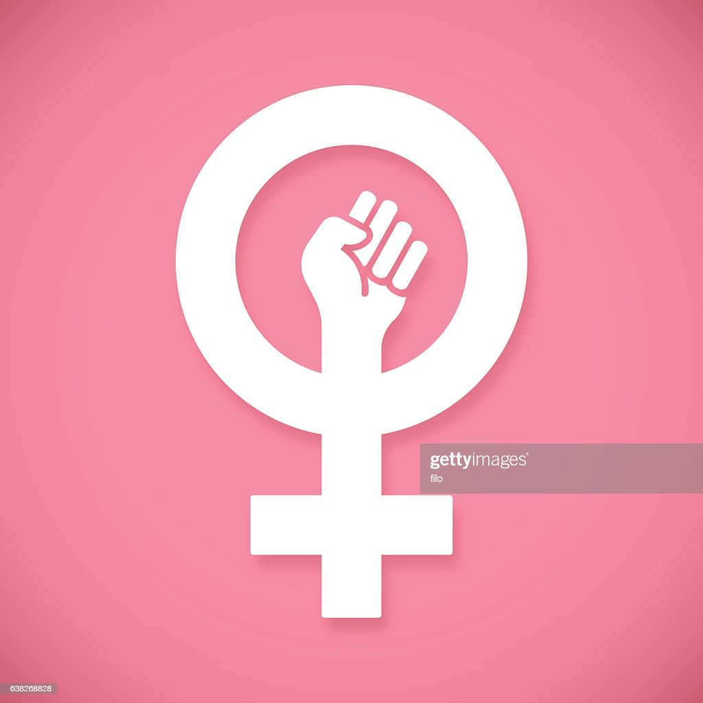 Female Power Raised Fist : Ilustración de stock
