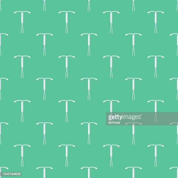 IUD Female Reproduction Seamless Pattern