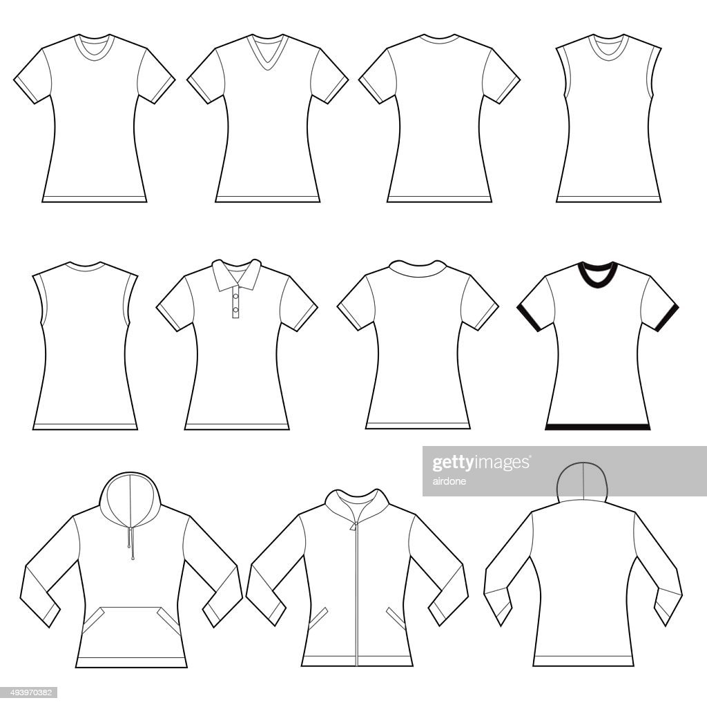 Female Shirts Template