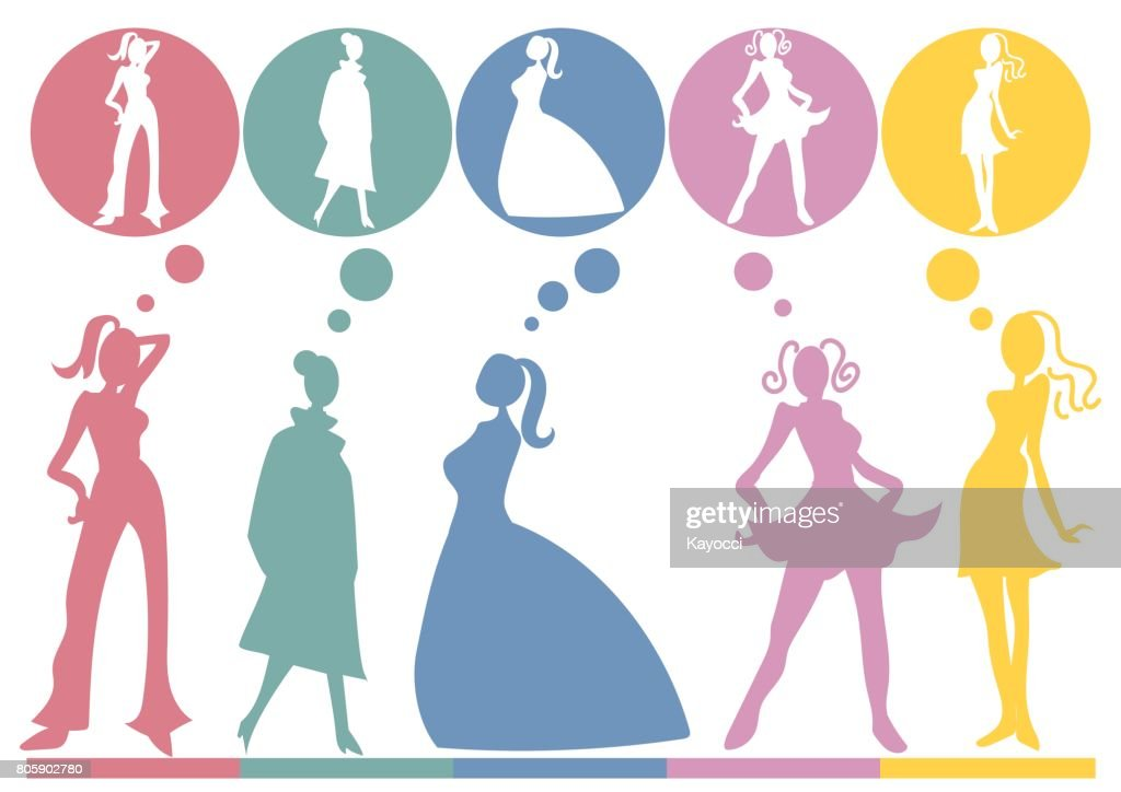 Female silhouette · Fashion show type