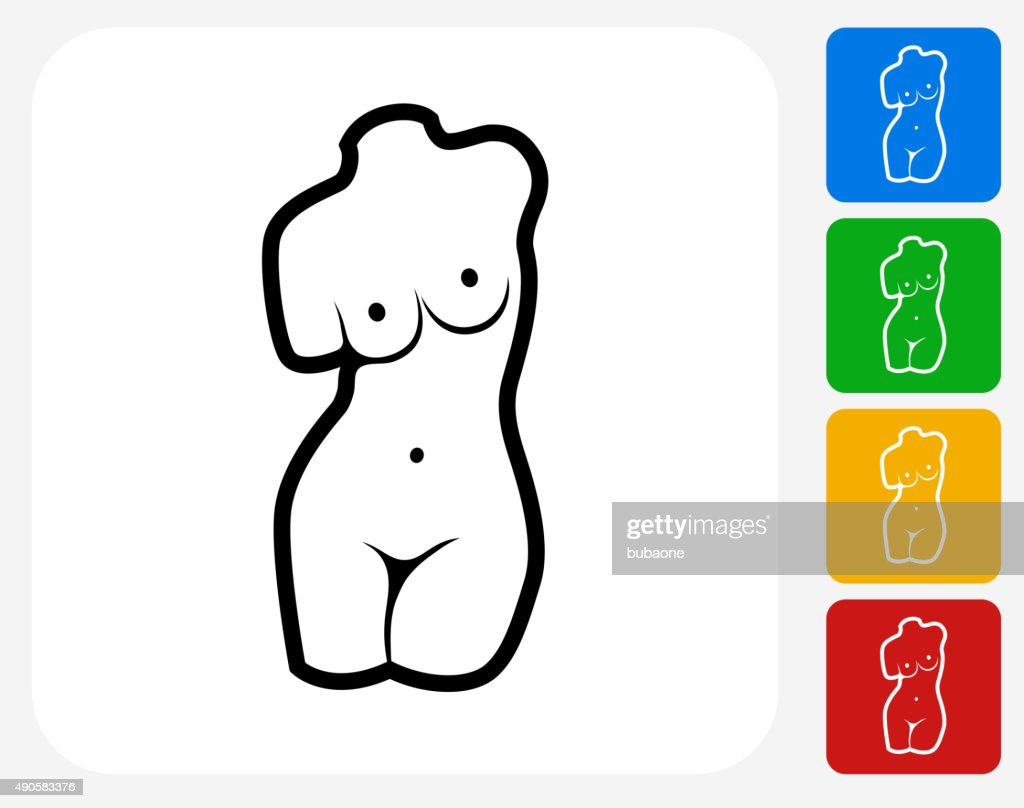 Female Statue Icon Flat Graphic Design : stock illustration