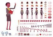 Female teacher character creation set